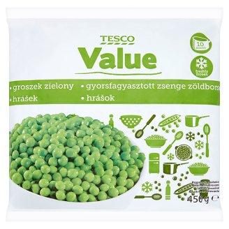 Tesco Value gyorsfagyasztott zsenge zöldborsó 450 g