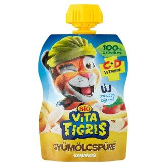 Sió Vitatigris alma alapú vegyes gyümölcskészítmény banán pürével 90 g