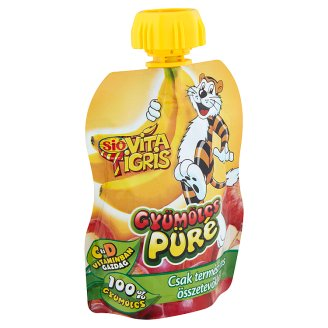 Sió Vitatigris Apple Based Mixed Fruit Puree with Banana Purée 90 g