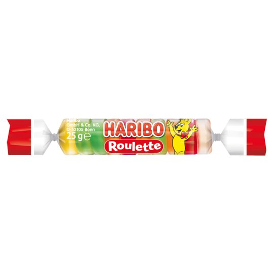Haribo Roulette Fruit Flavoured Gums 25 g