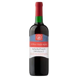 Duna-Tisza közi Kékfrankos Zweigelt félédes vörösbor 10,5% 750 ml
