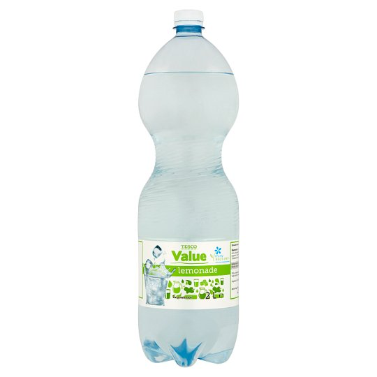 Tesco Value citrom ízű szénsavas üdítőital édesítőszerekkel 2 l