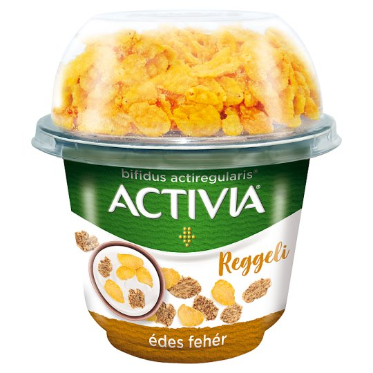 Danone Activia Reggeli Sweetened Yoghurt with Wheat & Corn Flakes and Live Cultures 168 g