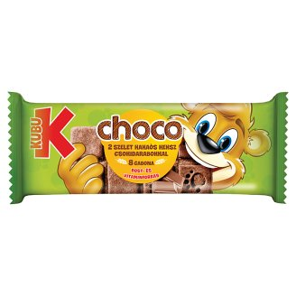 Kubu 8gabona Choco Cocoa Biscuit with Chocolate Pieces 2 pcs 32 g