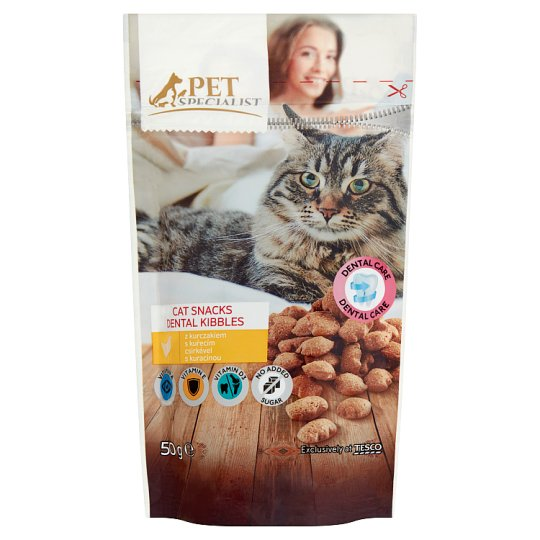 Tesco Pet Specialist Cat Snacks Dental Kibbles 50 g