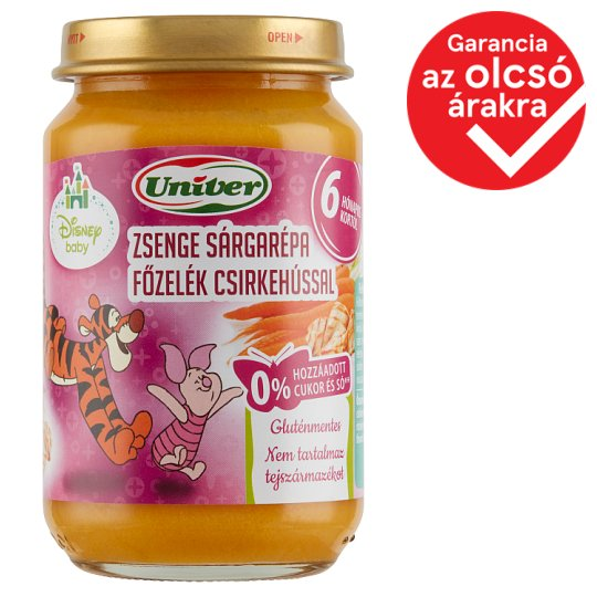 Univer Carrot Stew with Chicken Food for Babies 6+ Months 163 g