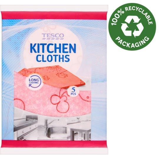 Tesco Kitchen Cloths 30 cm x 38 cm 5 pcs
