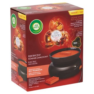 Air Wick Wax Melts Life Scents Mulled Wine by the Fire Device and Refill