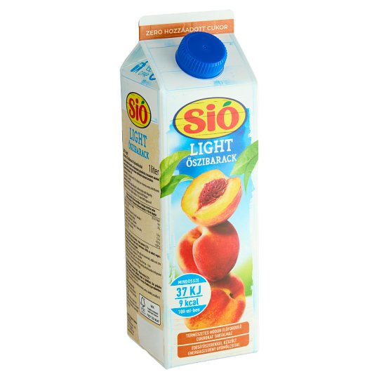 Sió Light Low Energy Pulpy Peach Fruit Drink with Sweeteners 1 l