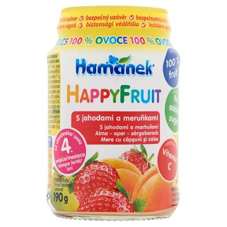 Hamánek HappyFruit Apple-Strawberry-Apricot Baby Dessert 4+ Months 190 g