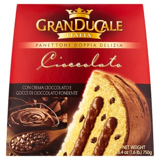 Granducale Italia Panettone with Chocolate Chips Filled with Chocolate Cream 750 g