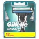 Gillette Mach3 Razor Blades For Men, 12 Refills
