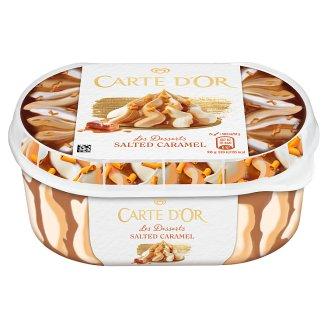 Carte D'Or Gelateria Vanilla-Salted Caramel Ice Cream with Sauce and Caramel Chocolate Curls 900 ml