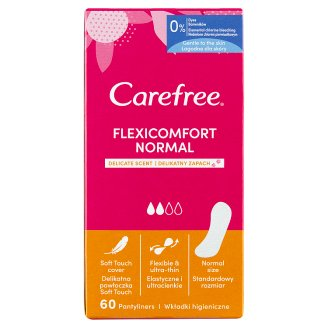 Carefree FlexiComfort Pantyliners with Cotton Feel Fresh Scent 60 pcs