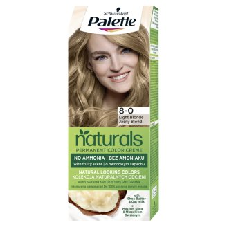Schwarzkopf Palette Permanent Naturals Color Creme Hair Colorant 8-0 Light Blond (300)