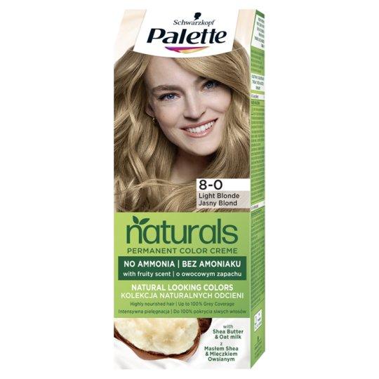 Schwarzkopf Palette Permanent Naturals Color Creme Hair Colorant 8-0 Light Blond (300)