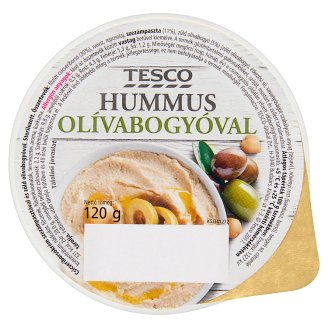 Tesco Hummus with Olive 120 g