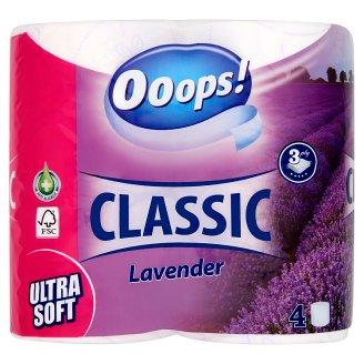 Ooops! Classic Lavender Ultra Soft toalettpapír 3 rétegű 4 tekecs
