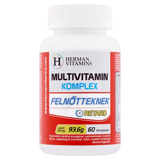 Herman Vitamins Multivitamin Complex for Adults Food Supplement 60 pcs 93,6 g