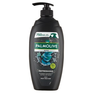 Palmolive Men Refreshing 3 in 1 Shower Gel for Body, Face and Hair 750 ml