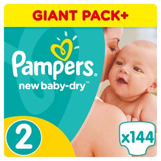 Pampers New Baby-Dry Size 2 (Mini) 3-6 kg, 144 Nappies