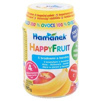Hamé Hamánek HappyFruit alma-őszibarack-banán bébidesszert 4 hónapos kortól 190 g