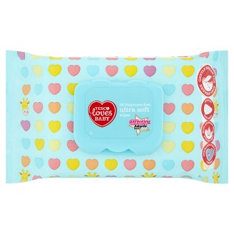 Tesco Loves Baby Fragrance Free Ultra Soft Wipes 56 pcs
