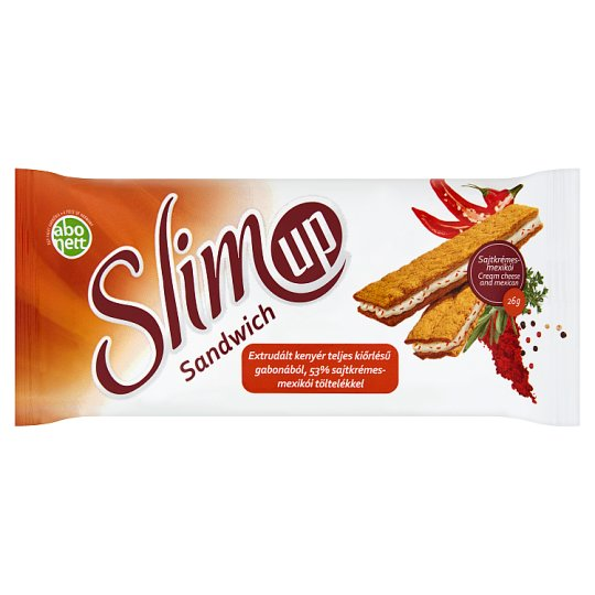 Abonett SlimUp Sandwich Wholegrain Extruded Slice with Cream Cheese and Mexican Filling 26 g