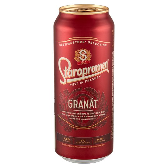 Staropramen Granát minőségi félbarna sör 4,8% 0,5 l