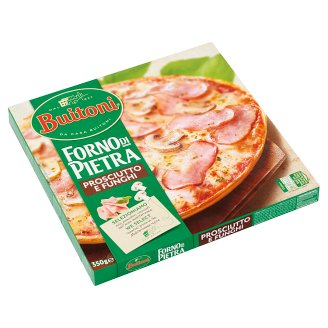 Buitoni Forno di Pietra Quick-Frozen Pizza with Ham and Mushroom 350 g