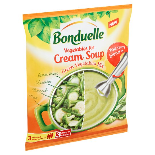 Bonduelle Quick-Frozen Vegetables for Cream Soup with Green Vegetables Mix 400 g