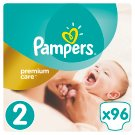 Pampers Premium Care Size 2 (Mini) 3-6kg, 96 nappies