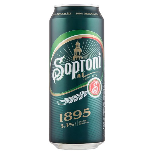 Soproni 1895 világos sör 5,3% 0,5 l doboz
