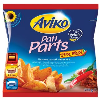 Aviko Pre-Fried and Quick-Frozen Potato Wedges with Tex Mex Spices 600 g