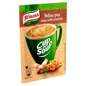 Knorr Cup a Soup sárgaborsó-krémleves baconnel és zsemlekockával 21 g