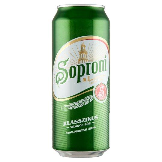 Soproni Klasszikus Lager Beer 4,5% 0,5 l Can