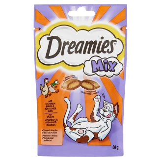 Dreamies Mix Complementary Pet Food for Adult and Junior Cats with Chicken and Duck 60 g