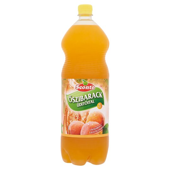 Sconto Energy-Free Peach Drink with Sweeteners 2 l