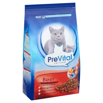 PreVital Complete Food for Adult Sterilised Cats with Beef and Added Vegetable 1,8 kg