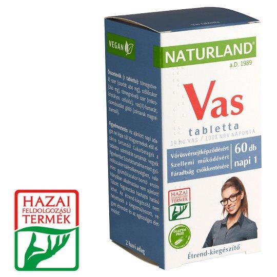 Naturland Vitalstar vas étrend-kiegészítő tabletta 60 db 51,36 g