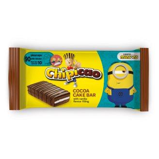 Chipicao Covered Cake Bar with Chocolate Flavoured Coating and Vanilla Flavoured Filling 64 g