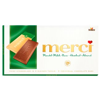 Merci Chocolate Bar with Hazelnut and Almond 100 g