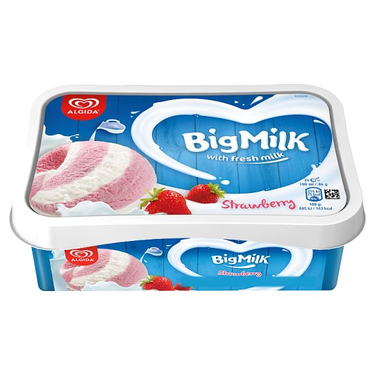 Big Milk Yoghurt Flavoured Ice Cream with Raspberry Sauce 1000 ml