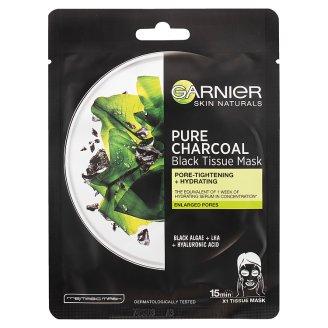Garnier Skin Naturals Pure Charcoal tisztító és hidratáló maszk tág pórusokra 28 g