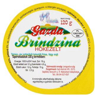 Brindzina Cow and Sheep Milk Made Fresh Soft Cheese 120 g