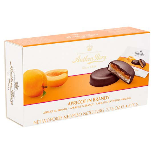 Anthon Berg Chocolate with Marzipan and Filling with Apricot in Brandy 8 pcs 220 g