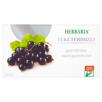 Herbária Blackcurrant Fruit Tea 20 Tea Bags 40 g