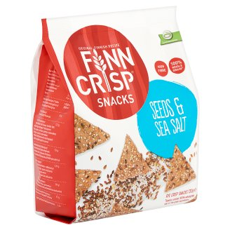 Finn Crisp Snacks Rye Crisps with Sesame- and Linseeds and Sea Salt 130 g