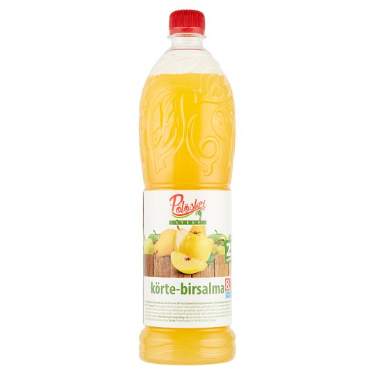 Pölöskei Pear-Quince Flavoured Syrup with Sugar and Sweetener 1 l