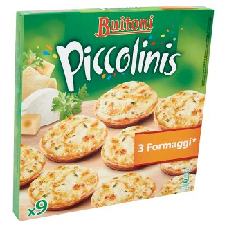 Buitoni Piccolinis 3 Formaggi Quick-Frozen Mini Pizza 9 pcs 270 g